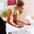 empregada · serviço · de · quarto · hotel · para · cima · mulher - foto stock © Kzenon
