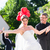 bride running away with priest after wedding stock photo © kzenon