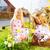 çocuklar · easter · egg · hunt · tavşan · çayır · bahar · yaşayan - stok fotoğraf © Kzenon