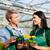 female and male gardener in market garden or nursery stock photo © kzenon