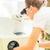 dentales · técnico · de · trabajo · laboratorio · mano · pintura - foto stock © kzenon