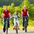 család · biciklik · kosz · út · lovaglás · lefelé - stock fotó © kzenon