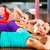 fitness group in gym doing crunches for sport stock photo © kzenon