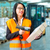 ワーカー · パッケージ · 倉庫 · 物流 · 女性 · ベスト - ストックフォト © Kzenon
