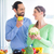 couple living healthy eating fruits and vegetables stock photo © kzenon