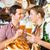 paar · drinken · tarwe · bier · restaurant - stockfoto © kzenon