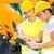 asian · ingenieur · bespreken · plannen · bouwplaats · bouw - stockfoto © kzenon