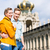 tourist couple in dresden at zwinger castle stock photo © kzenon