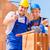 mano · ladrillo · cemento · edificio · pared · construcción - foto stock © kzenon