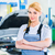 Female auto mechanic working in car workshop stock photo © Kzenon
