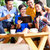 group of young people in an asian coffee shop stock photo © kzenon