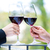 handen · wijn · glas · rode · wijn · vrouw - stockfoto © kzenon
