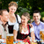 in beer garden   friends on a table with beer stock photo © kzenon