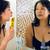 badkamer · vrouw · kam · haren · spiegel - stockfoto © kzenon