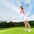 jovem · feminino · jogador · de · golfe · golfe · balançar · mulher - foto stock © kzenon
