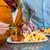homem · alimentação · batatas · fritas · sofá · batatas · fritas · comida - foto stock © kzenon