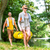 woman and man carrying together kayak to forest river stock photo © kzenon