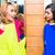 twee · meisjes · kleedkamer · familie · leuk · hoed - stockfoto © kzenon