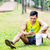 asian man having break from sport training stock photo © kzenon