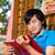 feliz · asiático · masculino · estudante · leitura · livro - foto stock © kzenon