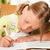 dziecko · praca · domowa · uczennica · szkoły · piśmie - zdjęcia stock © Kzenon