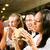 Friends eating fast food in a restaurant stock photo © Kzenon