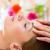 bienestar · mujer · cabeza · masaje · spa · cara - foto stock © kzenon