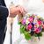 boda · Pareja · iglesia · flores · feliz · rosas - foto stock © kzenon