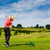 jovem · feminino · jogador · de · golfe · condução · alcance · golfe - foto stock © kzenon