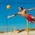 homem · jogar · praia · voleibol · jogo · bola - foto stock © kzenon