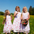 children on easter egg hunt with baskets stock photo © kzenon