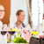table with wine at business lunch in restaurant stock photo © kzenon