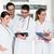 médicos · em · pé · hospital · corredor · médico · grupo - foto stock © kzenon