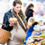 mulher · compras · local · mercado · rua · verde - foto stock © kzenon