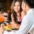 chinese couple having romantic dinner in fancy restaurant stock photo © kzenon