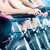 fitness group indoor bicycle cycling in gym stock photo © kzenon