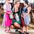 bavarian family with milk can on cow farm stock photo © kzenon