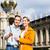 couple at zwinger in dresden taking selfie stock photo © kzenon