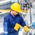técnico · fábrica · máquina · manutenção · asiático · trabalhando - foto stock © Kzenon