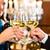 man and woman tasting champagne in restaurant stock photo © kzenon