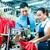 fabrika · bir · şey · işçi · yeni · makine · tekstil - stok fotoğraf © kzenon