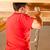 bouwvakker · hand · boor · timmerman · werken · dak - stockfoto © Kzenon