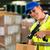 lavoratore · pacchetto · magazzino · gilet · scanner · barcode - foto d'archivio © kzenon