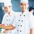 asian · Küchenchef · lächelnd · Kamera · Restaurant · Küche - stock foto © kzenon