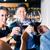 barátok · szemüveg · bor · étterem · szabadidő · ünneplés - stock fotó © kzenon