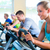 группа · спортзал · спорт · велосипед · фитнес · люди - Сток-фото © kzenon