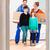 famille · deux · enfants · déplacement · famille · heureuse - photo stock © kzenon