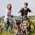 family riding bicycles in summer stock photo © kzenon