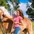 lovas · ló · nők · portré · fiatal · felnőtt - stock fotó © kzenon