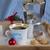 koffie · amandel · cookies · houten · dienblad · drinken - stockfoto © laciatek